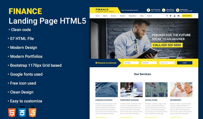 finance Business Landing Page