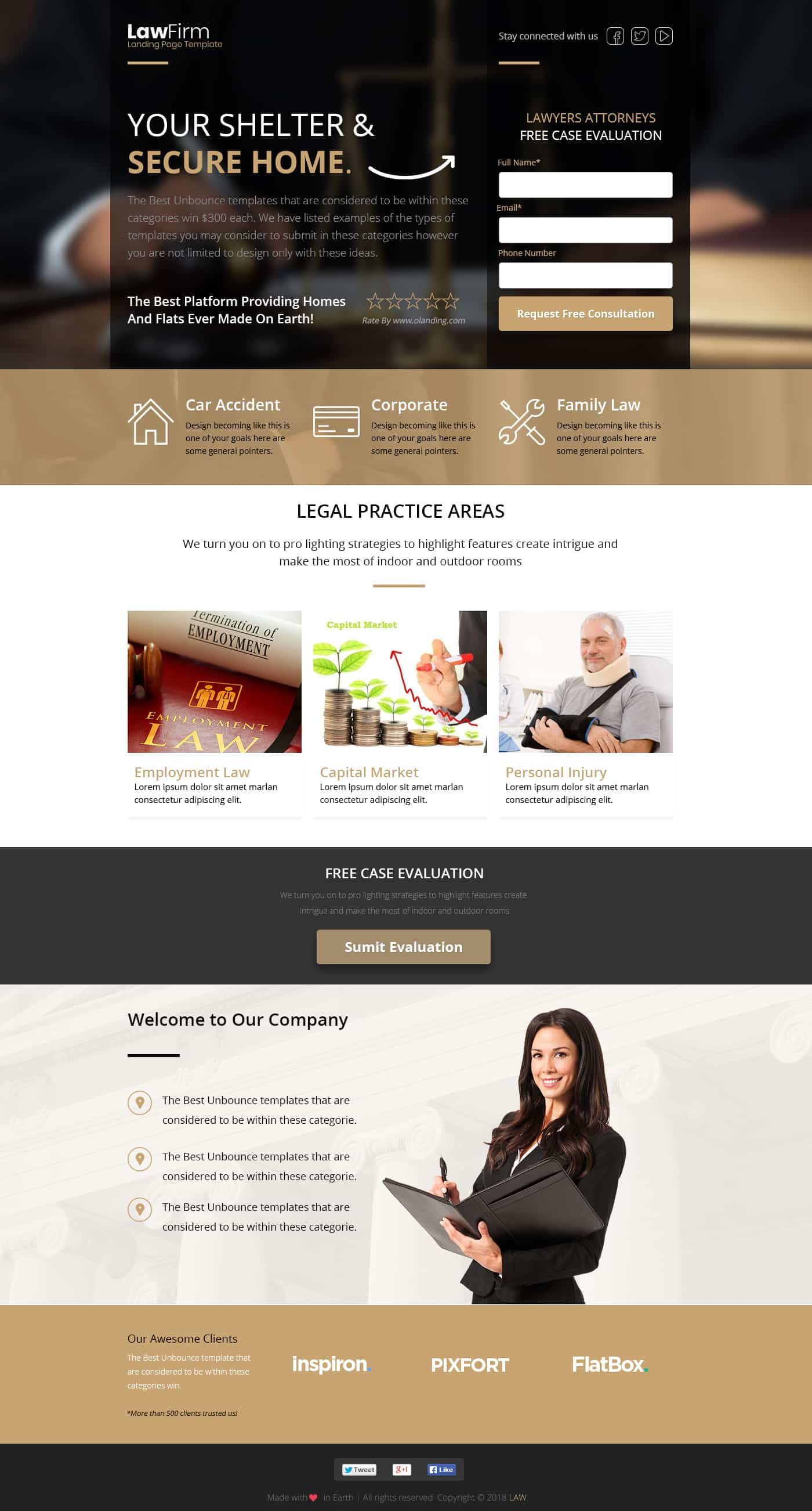 law Landing Page Template