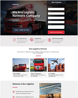 Logistics LandingPage Template