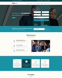 Finance Landing Page Theme