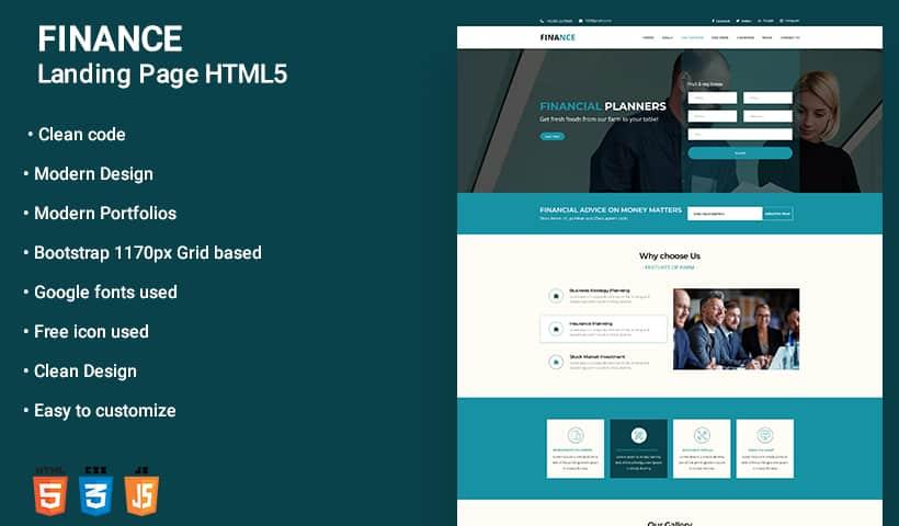 Finance WordPress Landing Page