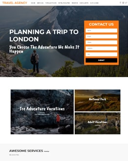 Travelling WP Landing Page
