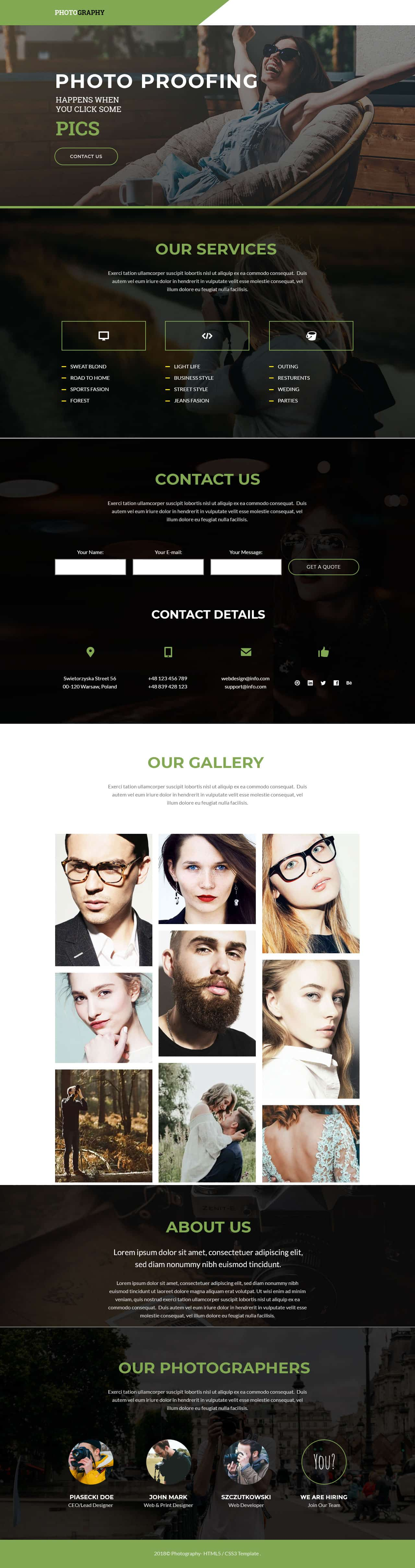 photo Landing Page Template