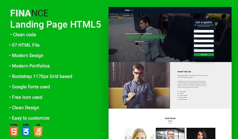 Finance V4 Landing Page Template