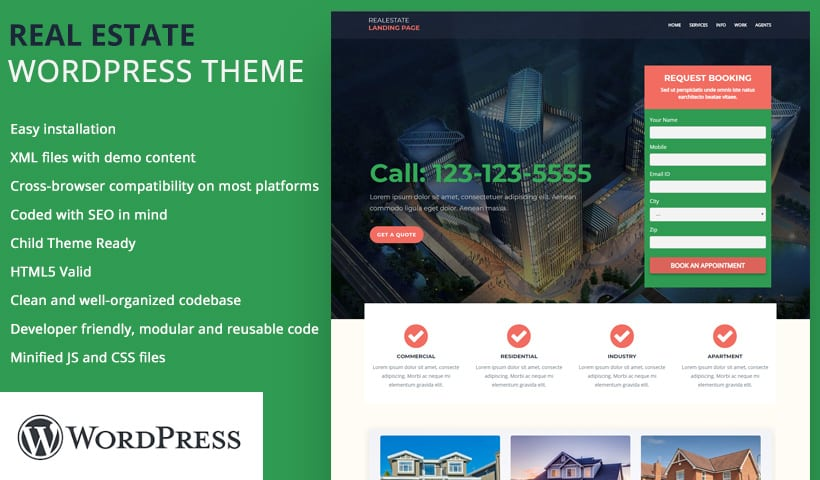 real estate WP template