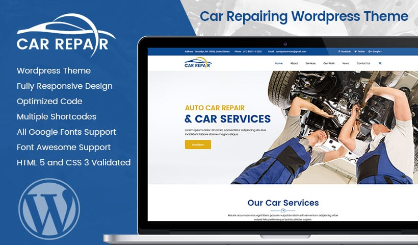 Car Repairing WP Template
