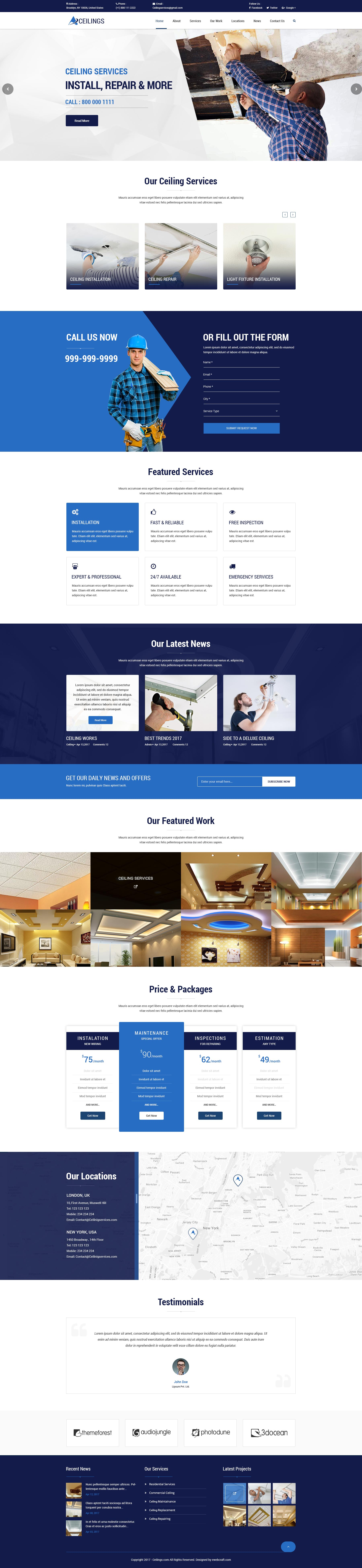 Ceiling WP theme