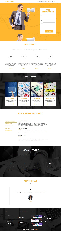 Advertising HTML Landing Page