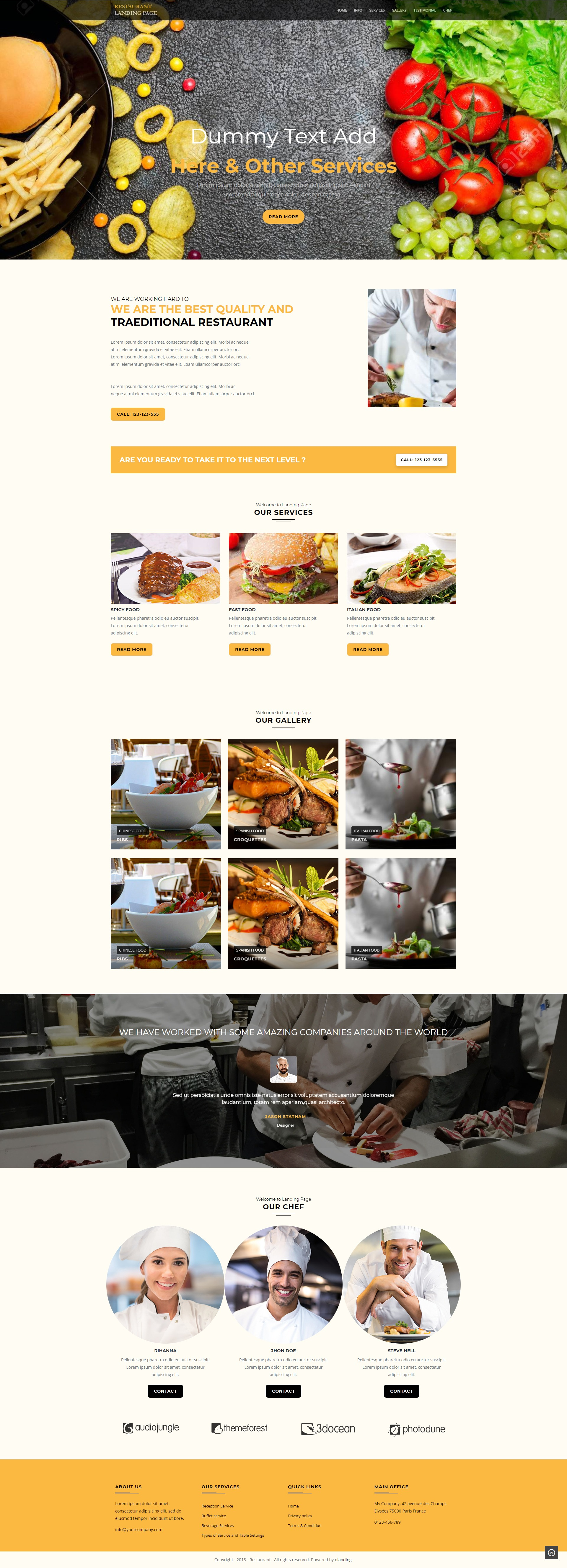 restaurant WP Template